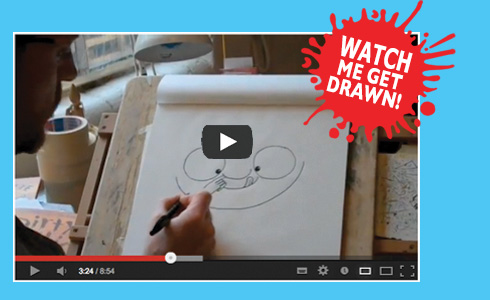 Watch me get drawn on YouTube